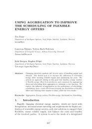 using aggregation to improve the scheduling of flexible energy offers