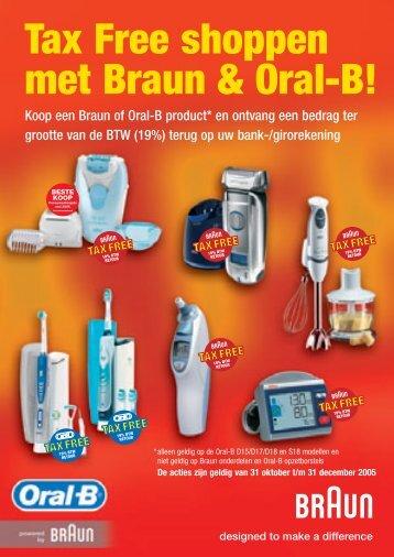 Tax Free shoppen met Braun & Oral-B! - Wehkamp.nl
