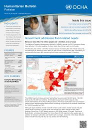 Humanitarian Bulletin Issue 18   16 August - 15 September 2013