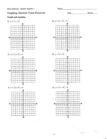 Graphing Exponential & Absolute Value Functions - 1