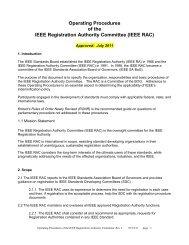RAC Operating Procedures - The IEEE Standards Association