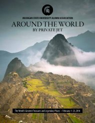 Round the World by Private Jet - MSU Alumni Association ...