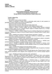 Proiect de hotărâre privind aprobarea Organigramei, Statului de ...