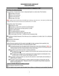DOCUMENTATION CHECKLIST Enteral Nutrition - NHIA