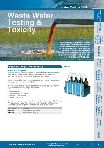 Waste Water Testing & Toxicity - Wagtech Projects Ltd