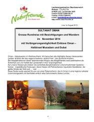 Sultanat Oman 2014 - Naturfreunde Oberösterreich