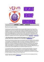 JAARGANG 1 NUMMER 1 JANUARI 2009 Beste Neurochirurgische ...