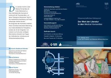 Der Wert der Literatur in den Medical Humanities