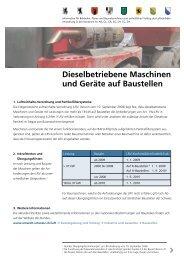 Dieselbetriebene Maschinen und Geräte auf ... - Kanton Zürich