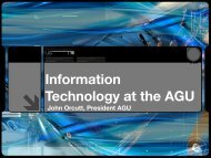 Information Technology at the AGU - Geon
