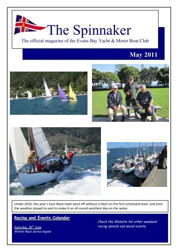 May 2011 - Evans Bay Yacht & Motor Boat Club