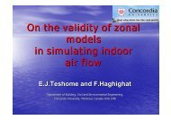 On the validity of zonal models in simulating indoor air flow
