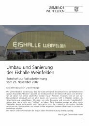 Umbau und Sanierung der  Eishalle Weinfelden  - Gemeinde ...