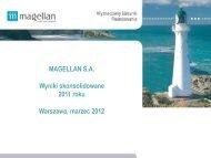 Wyniki finansowe za rok 2011 [PDF] - Magellan