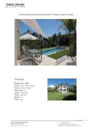 Charming Contemporary Villa Walk To Village In Saint Tropez FOR ...