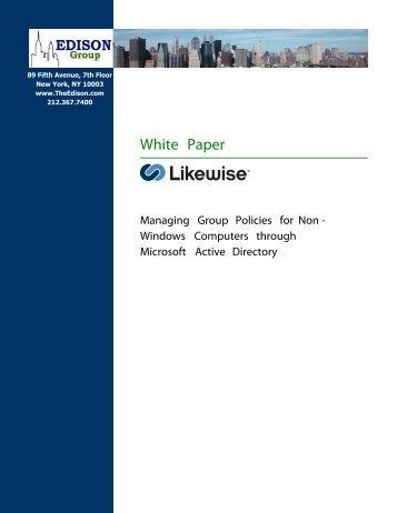 Edison Likewise Managing Group Policies White Paper - Purple Rage