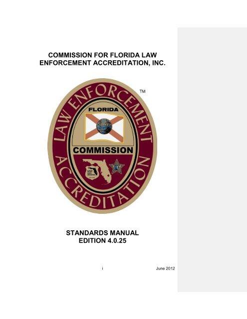 CFA Standards Manual Fourth Edition - Okaloosa County Sheriff's ...