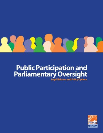 Public Participation and Parliamentary Oversight - Africa Centre for ...