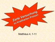 Matthäus 4, 1-11 - FeG Wienhausen