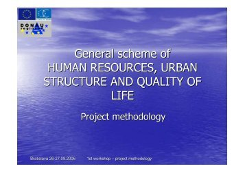 General scheme of HUMAN RESOURCES ... - Donauregionen