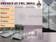 Department of Physics Presentation - Uwi.edu