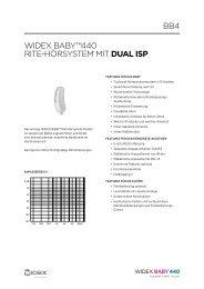WIDEX BABY™440 rItE-HörsYstEm mIt dual isp BB4
