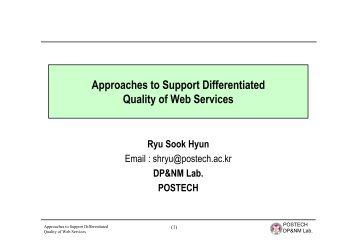 Approaches to Support Differentiated Quality of Web Services