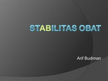 STABILITAS OBAT - Blogs Unpad