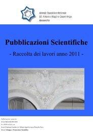 Pubblicazioni Scientifiche Anno 2011 - Azienda Ospedaliera Santi ...