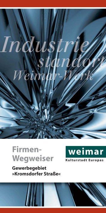 Firmen- Wegweiser - Weimar