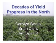 Decades of Yield Progress in the North - SoyBase