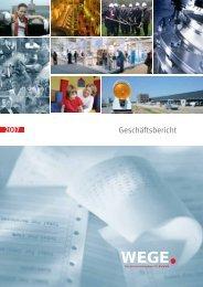 Geschäftsbericht - WEGE  mbH