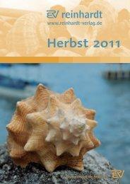 Herbst 2011 - Ernst Reinhardt Verlag