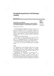 KIFS 2009:2 - Kemikalieinspektionen