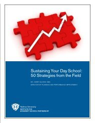 Sustaining Your Day School: 50 Strategies from the Field