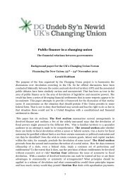 Public finance in a changing union - Click on Wales