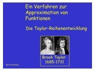 Ein Verfahren zur Approximation von Funktionen - TCI @ Uni ...