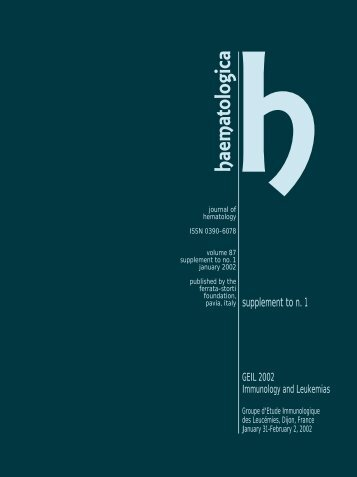 Haematologica 2002;87: supplement to no. 1 - Supplements ...