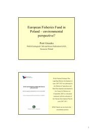 European Fisheries Fund in Poland – environmental perspective?