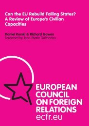 Can the EU Rebuild Failing States? A Review of Europe's Civilian ...