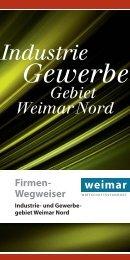 Industrie Gewerbe Gebiet Weimar Nord Firmen- Wegweiser