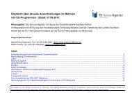 Aktuelle Aufrufe August 2013 - EU Service-Agentur