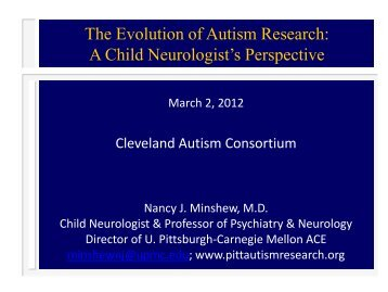 The Evolution of Autism Research: A Child Neurologist's Perspective