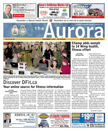 Nov 5 2012 - The Aurora Newspaper
