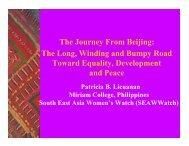 The Journey from Beijing - CAPWIP