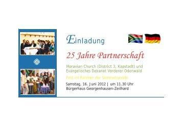 Einladungskarte 25 Jahre Partnerschaft - Evangelisches Dekanat ...