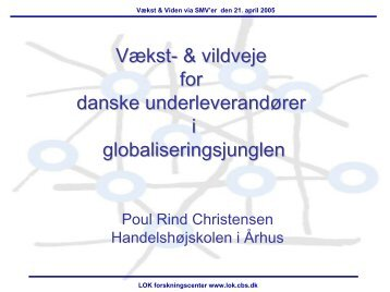 Innovativ sourcing - LOK forskningscenter - CBS