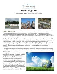 Senior Engineer - Puget Sound Clean Air Agency