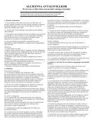 Allmänna avtalsvillkor - Vattenfall