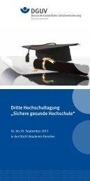 """Dritte Hochschultagung """"Sichere gesunde Hochschule"""""""